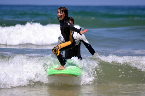 Surf school in Landes